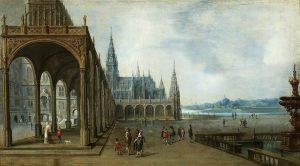 Imaginary architecture. Hendrick Aerts. 1565-1575.
