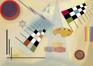 James's 1st digital PhotoShop abstract painting in Wassily Kandinsky style