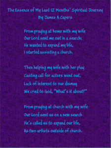 Poem—The Essence of My Last 12 Months' Spiritual Journey - Digital Art -James Capers