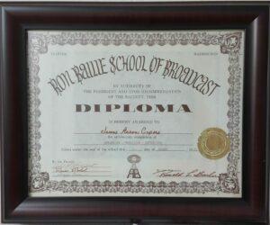 James Diploma - Ron Bailie School of Broadcast